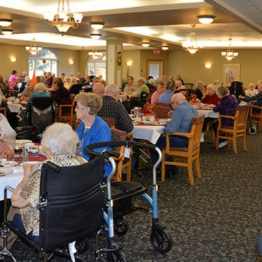 Kelso Villa Retirement Home Dining Area